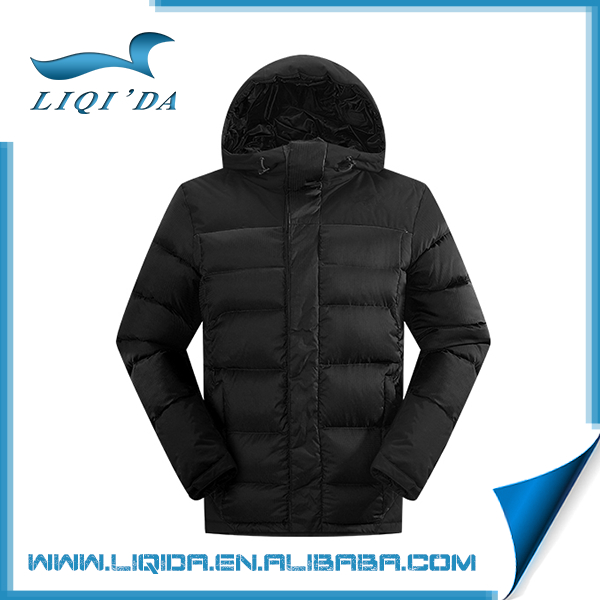 New arrival china supplier black winter down jackets ultra light men