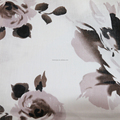 high quality printed linen fabric for women's garment