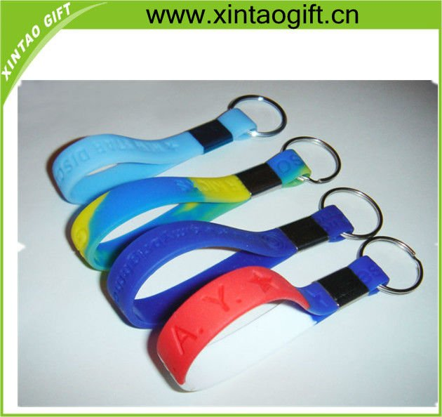 promotion silicone and pvc keychain