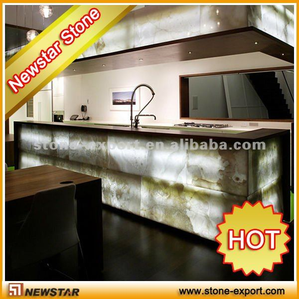 Newstar lighted onyx bar tops,onyx countertops