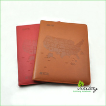 Custom Company Logo Padfolio, High Quality PU Leather Portfolio