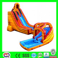 giant inflatable double lane slip slide/ inflatable water slide for kids and adults