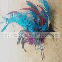 Brief Ethnic Customs Masquerade Feather Headgear Carnival Fairy Feather Headdress