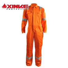 100% Cotton Winter Flame Retardant Workwear Offshore Safety Fr Working Fireproof Coverall for Oil and Gas