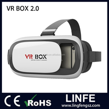 Factory directly sales Google cardboard virtual reality 3d vr box glasses with vr 2nd generation headset