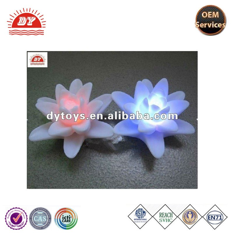 ICTI certificated custom made led lighted tulip flowers bath toy