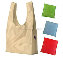 Foldable polyester shopping bag with t-shirt style , easy carry and use, OEM orders are welcome