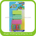 colorful sharpeners and erasers
