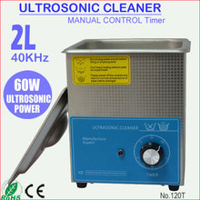 2L Stainless Steel Ultrasonic Eye Glass Cleaner for Eyeglasses Cleaning 120T