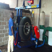 Energy-save scrap rubber tyre shredder used in India