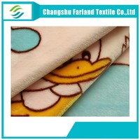 cute cartoon duck baby fleece blanket fabric