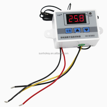 W3002 Digital 220v 12V 24V temperature thermo controller heat cool temp thermostat control switch with probe Delay start