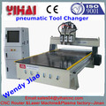 YH-1325 Three Spindles/Heads wood cnc router/cnc wood carving machine with vacuum table