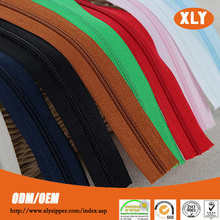 Alibaba China hot sale nylon zipper long chain with custom polyester tape