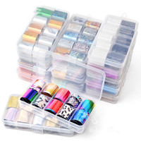Wholesale15 designs beautiful Starry Sky Nail Wraps Transfer Foil Star Design Decals Sticker