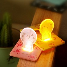 Cute Creative Cartoon Expression Text Button Battery Mini LED Night Light Unique Card Lamp