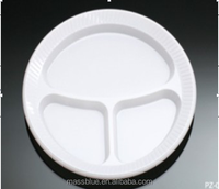 Disposable Plastic Plate, disposable compartment plastic plate, PS Plastic plates