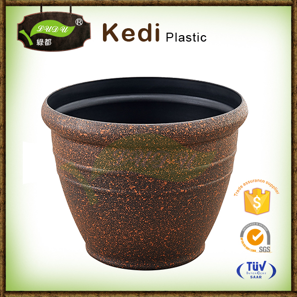 Wonderful plastic spray paint flowerpot