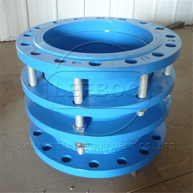 DN400 Telescoping double flanged pipe adapter fitting for pump