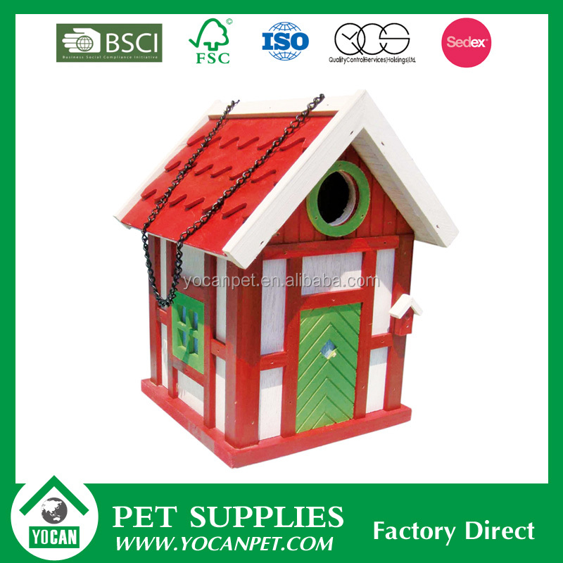 various colours cheap bird house wood