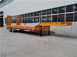 High quality widely used lowbed semi trailer gooseneck lowbed semi trailer for sale