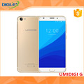 New arrvail UMI UMIDIGI G Smart Phone With MTK6737 Quad Core 5.0 inch Screen Touch ID 4G mobile phone