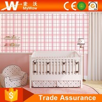 Interior Decorative Pure Paper Baby Room Wallpaper with Pink Green Blue Yellow Colors