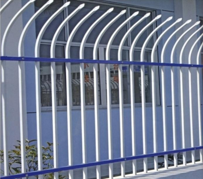 PVC or Galvanized steel palisade fence (A-017), Professional factory, CE, ISO, Export to Australia, England, USA, France