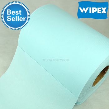 Guangzhou disposable spunlace nonwoven fabric industrial wipes roll for industrial cleaning manufacturer in China