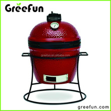 13'' New Product FDA LFGB Mini Kamado Grill Design , ODM High Quality Outdoor Charcoal Ceramic Grill Manufacture , BBQ Smoker