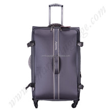 nylon decent soft trolley luggage wholesale