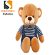 Overalls brown teddy bear plush soft high quality promotional teddies