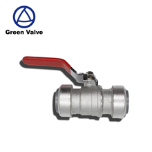 Gutentop GT2696 red lever handle push fit fitting connect nickel plated brass ball valve price