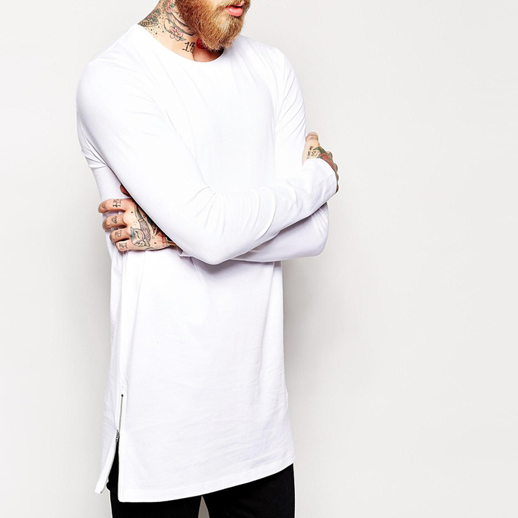 China apparel wholesale men clothing blank high quality longline tall