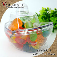 Wholesale 100% food grade Transparent PS plastic flat bottom boat storage containers