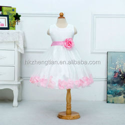 Fashion girl Beautiful Children flower girl dress pink princess baby girl wedding dress for party birthday
