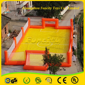 Commercial Inflatable Soccer Field/Inflatable Water Soap Football Field