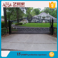 2016 new products customized wrought iron security gates / decorative wrought iron for gates