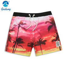 High quality custom fashion brand beach shorts men