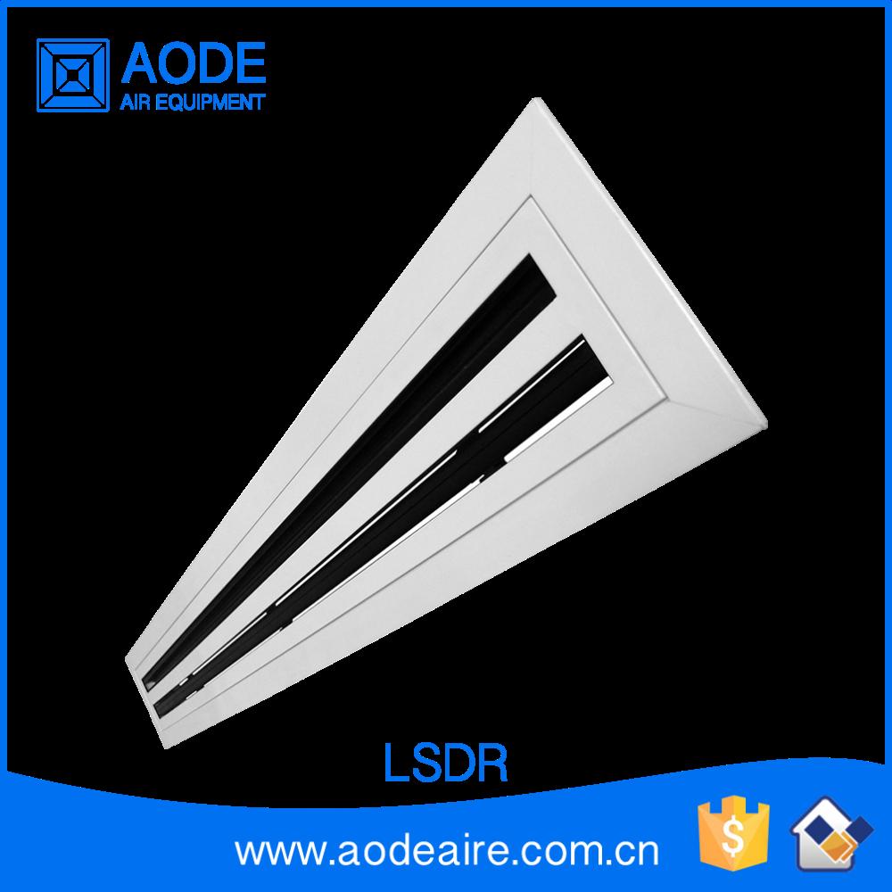 Aluminium Ceiling Linear Slot Air Diffuser Square With