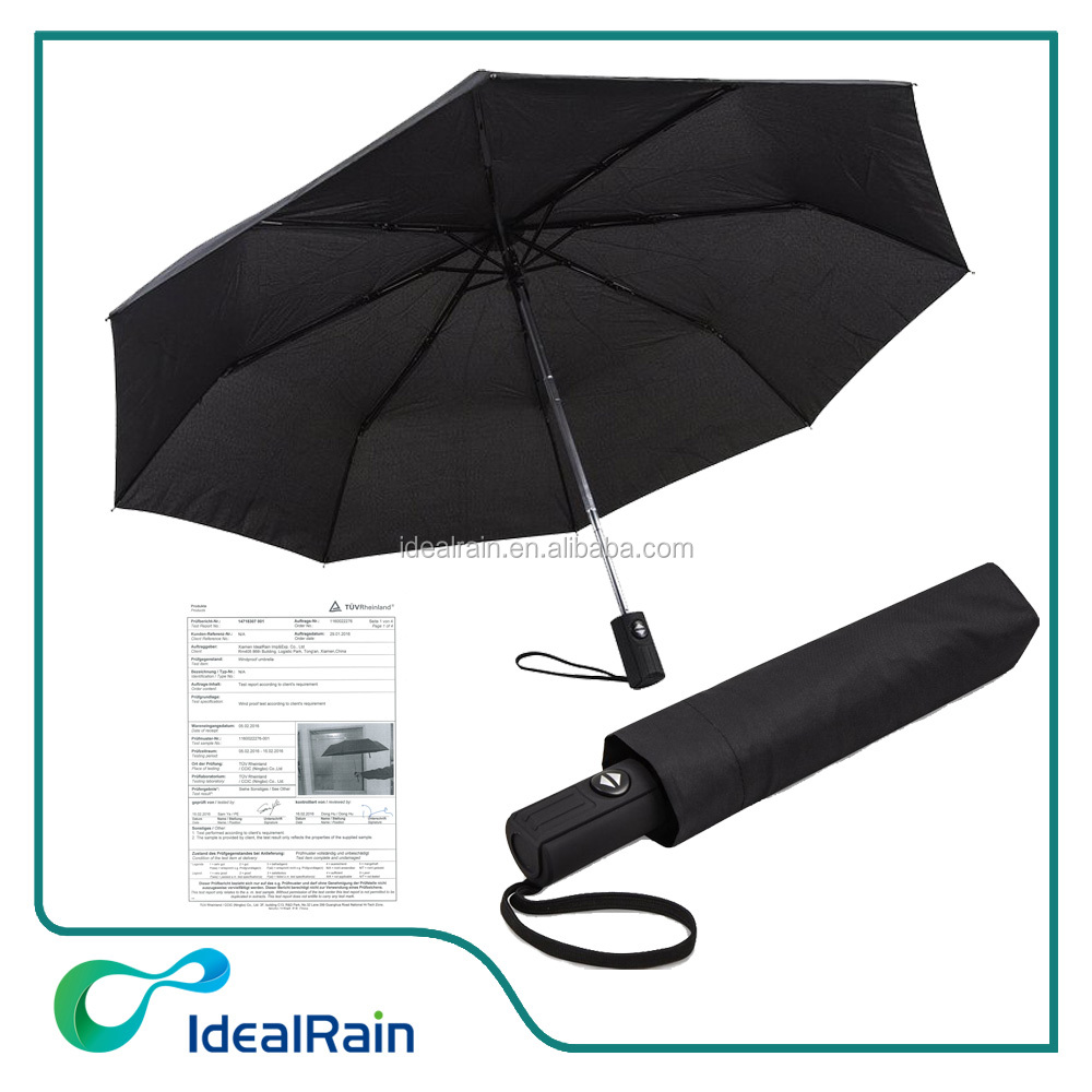 Compact 3 fold unbreakable auto open close travel umbrella