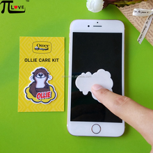 Custom fashion and cheap silicone sticky screen cleaner for digital product promotional gifts