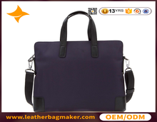 purple custom mens leather messenger laptop bags in china
