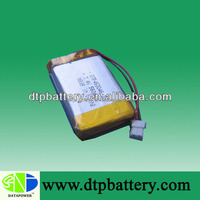 hot sale long cycle life 7.4v 560mah li-ion polymer battery for portable dvd player