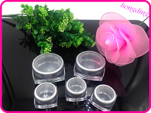 wholesale acrylic silver round straight shape cream jar 3g 12g old square cosmetic packing