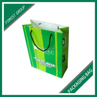 GLOSSY LAMINATION GROCERY PACKING PAPER BAG WITH PANTONE COLORS
