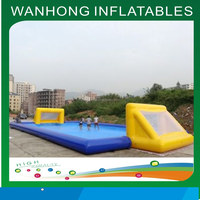 Water park game duarable pvc inflatable soap football game