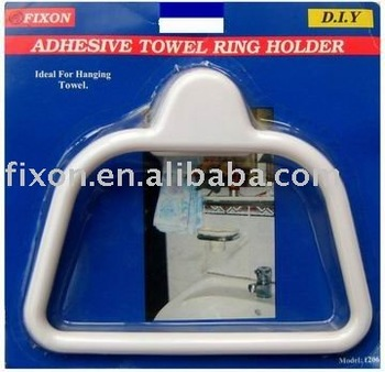 Adhesive towel rack