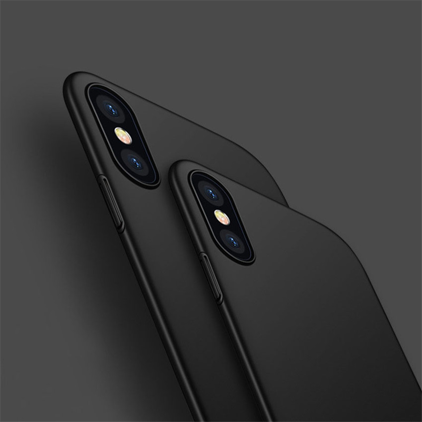 Thinnest Cover Slightly Matte Anti-drop Dustproof PC Hard Case for Iphone X Solid Color Fashion Style CA5782