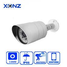 36pcs ir leds H.265 double stream full hd cctv camera monitor outdoor for mobile phone